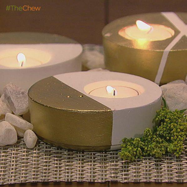 Plaster Tea Light Holder! #ClintonsCraftCorner #DIY #Crafts