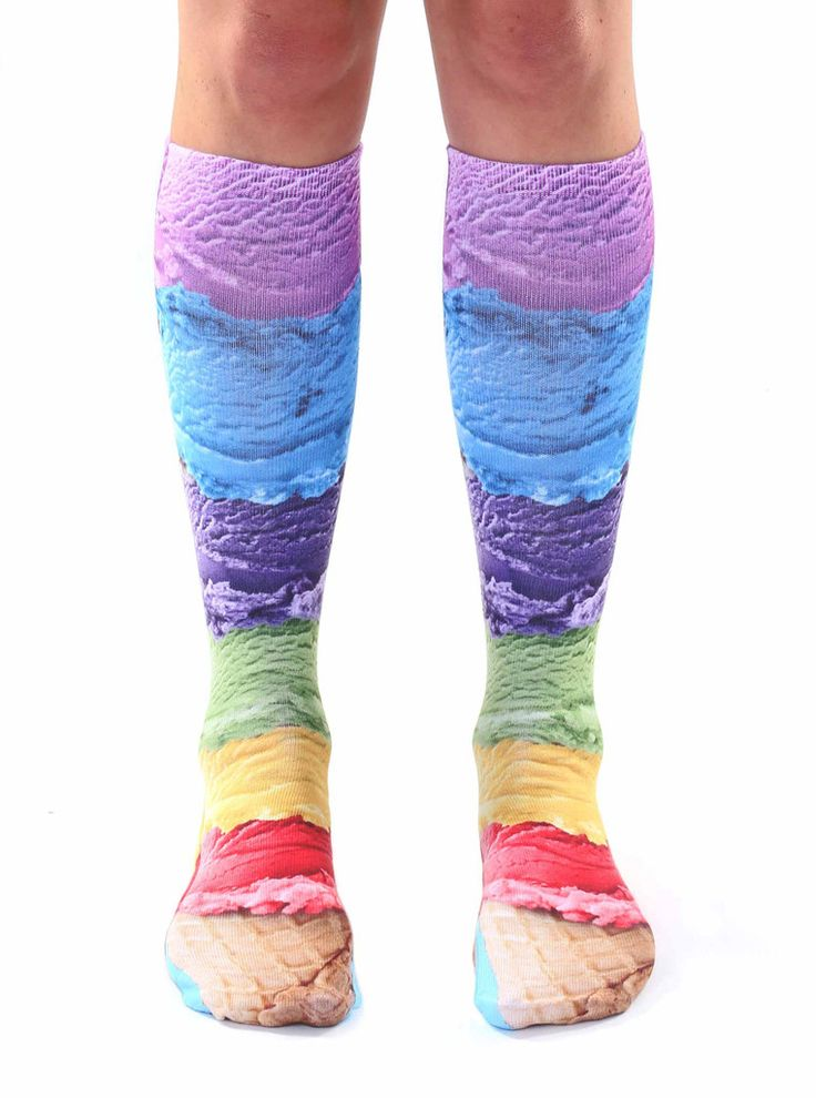A full variety of crazy and funky knee high socks that are fun, colorful and affordable.