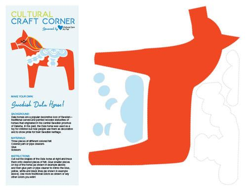 The Buzz, Cultural Care Au Pair Blog - Cultural Craft for Kids: make a Swedish Dala horse!