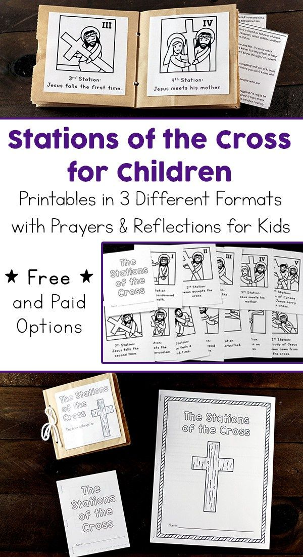graphic regarding Stations of the Cross Prayers Printable called Printable Stations of the Cross for Youngsters (Booklet and