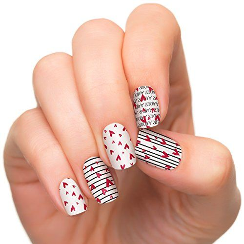 Incoco Nail Polish Strips, Valentine's Day Collection, Mon Amour Whimsical hearts and stripes with a Parisian flair  Read more http://cosmeticcastle.net/makeup/incoco-nail-polish-strips-valentines-day-collection-mon-amour  Visit http://cosmeticcastle.net to read cosmetic reviews