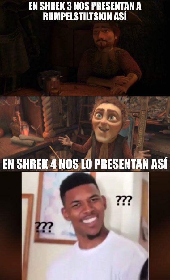 Menudo cambio de imagen de Rumpelstiltskin en Shrek Gracias a http://www.cuantocabron.com/ Si quieres leer la noticia completa visita: http://www.estoy-aburrido.com/menudo-cambio-de-imagen-de-rumpelstiltskin-en-shrek/