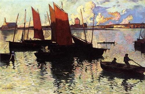 """Charles Cottet, 1892, """"Camaret"""""""