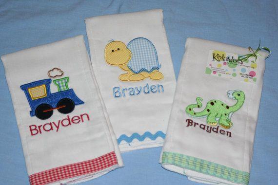 Ribbon or rick rack on bottom of the diaper.