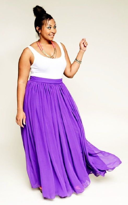 tendencias de faldas largas estampadas para rellenitas 2015 - Buscar con Google