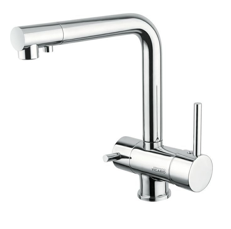A healthy outside starts from the inside. Single Lever Kitchen mixer with separate outlet for drinking water Armando Vicario Kitchen  Faucets By Hafele