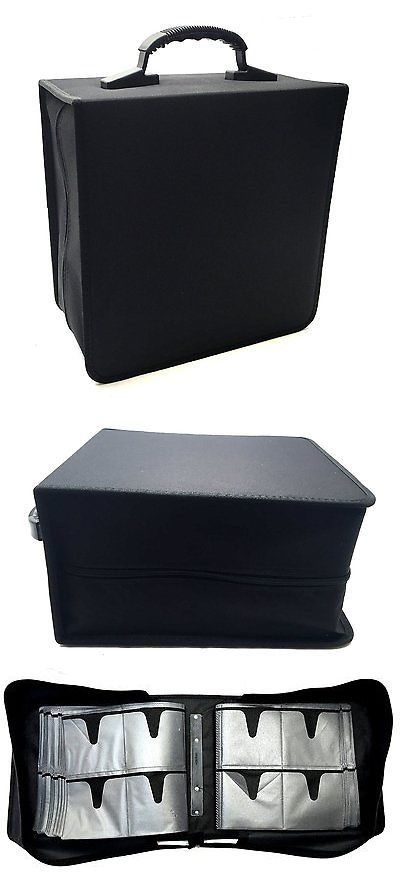 Media Cases and Storage: Premium Cloth Black Jumbo 464 Compact Disc Cd Dvd Blu-Ray Media Wallet Folder BUY IT NOW ONLY: $54.9