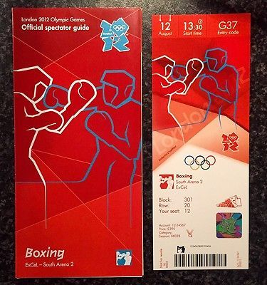 London 2012 #ticket boxing anthony #joshua gold plus #spectator guide 12 aug *min,  View more on the LINK: 	http://www.zeppy.io/product/gb/2/252331165947/