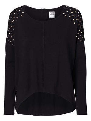 GLORY HOPE LS BLOUSE  Knit with studded detailing on shoulders.  #studs #knit #veromoda @Veronica MODA