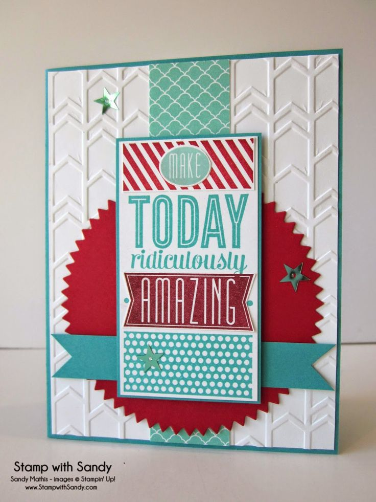 Stamp With Sandy: Make Today Ridiculously Amazing! Amazing Birthday Stamp Set, Stampin' Up