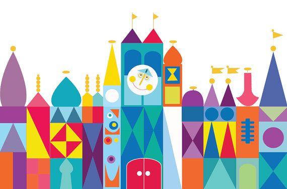 It's a Small World Backdrop  Small World Birthday by paperstudioeu