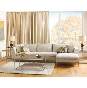 Best Buy In Our Clearance Center Today! Fantastic Style In Linen And Chrome    The · Sectional Living RoomsLiving Room ... Part 62