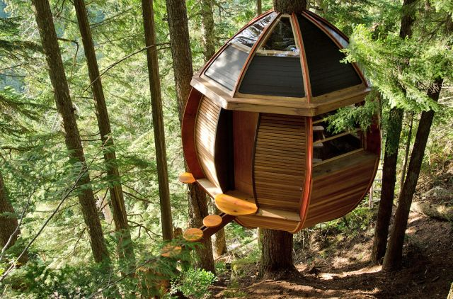 7 Tiny Tree Houses for Adults That Your Inner Child Will Love: A Secret 200 Square Foot Tree House