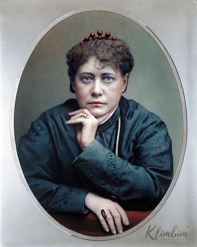 Helena Blavatsky   Елена Блаватская, 1877   by klimbims