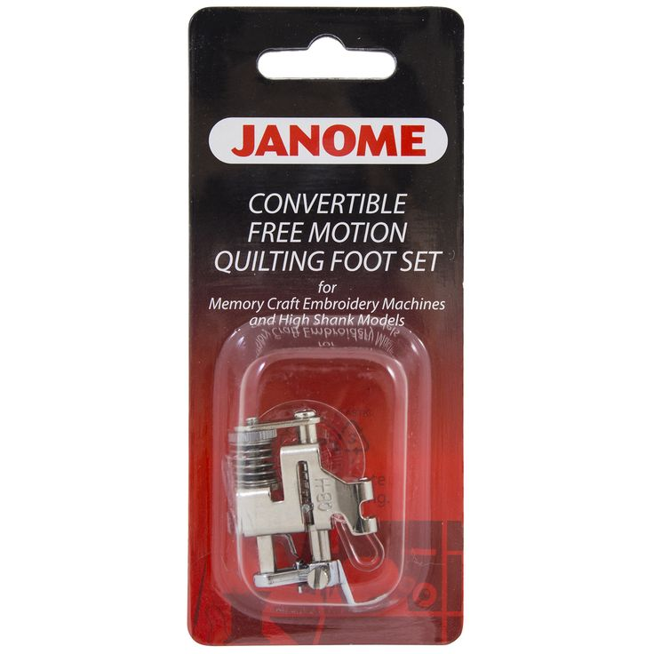 Janome Convertible Free Motion Quilt Foot Set for High Shank Models - Sew Vac Direct