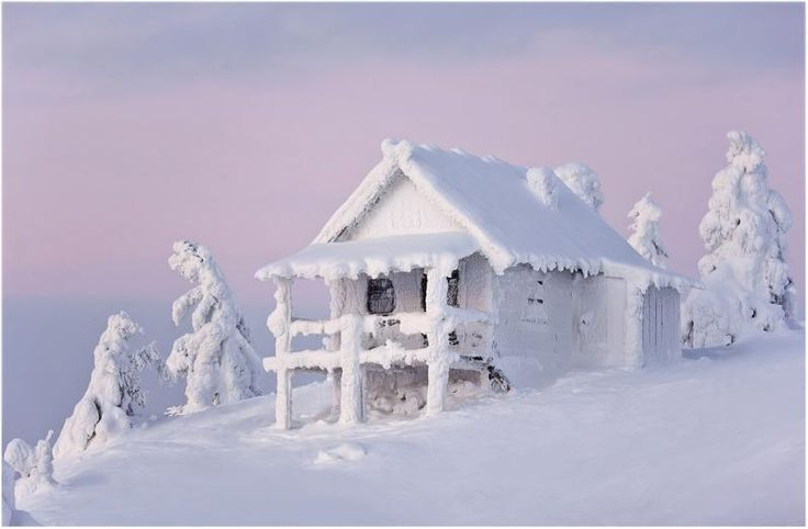 when it snows like this just resign yourself to digging out!!...Lapland. Finland.