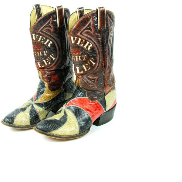 Coors Light Silver Bullet Snakeskin Cowboy Boots! ($100) ❤ liked on Polyvore featuring shoes, boots, snakeskin boots, western boots, snakeskin cowboy boots, cowboy boots and snakeskin western boots