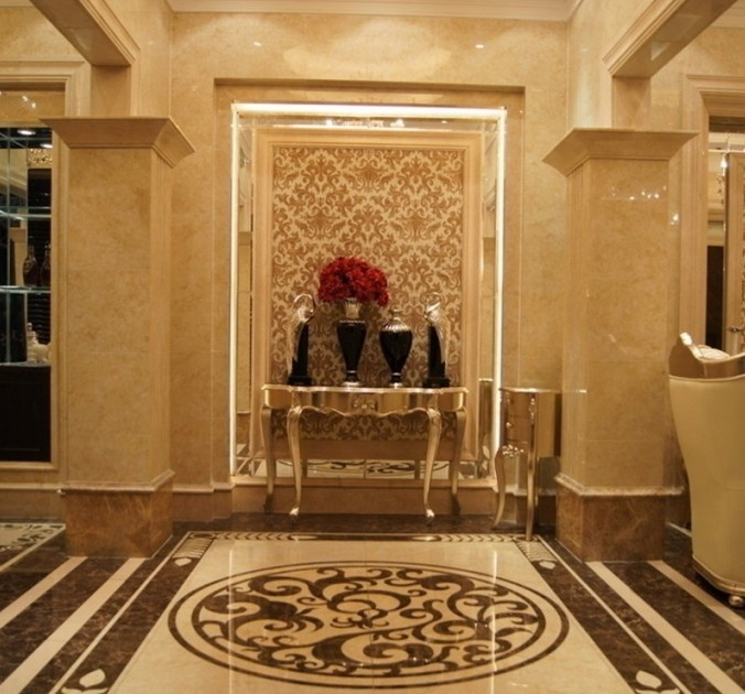 Marble Inlay Flooring Designs : Best waterjet medallion inlay images on
