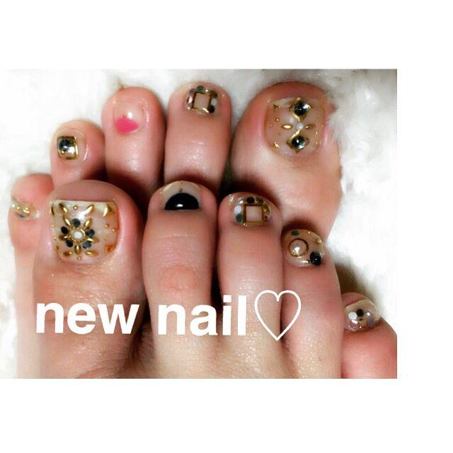 #nail #左右非対称