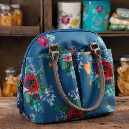 The Pioneer Woman Insulated Lunch Tote Bag with Matching Hydration Water Bottle, Country Garden