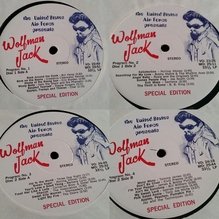 The US Air Force Presents Wolfman Jack Special Edition Vinyl Record Lot of 7 #RocknRoll