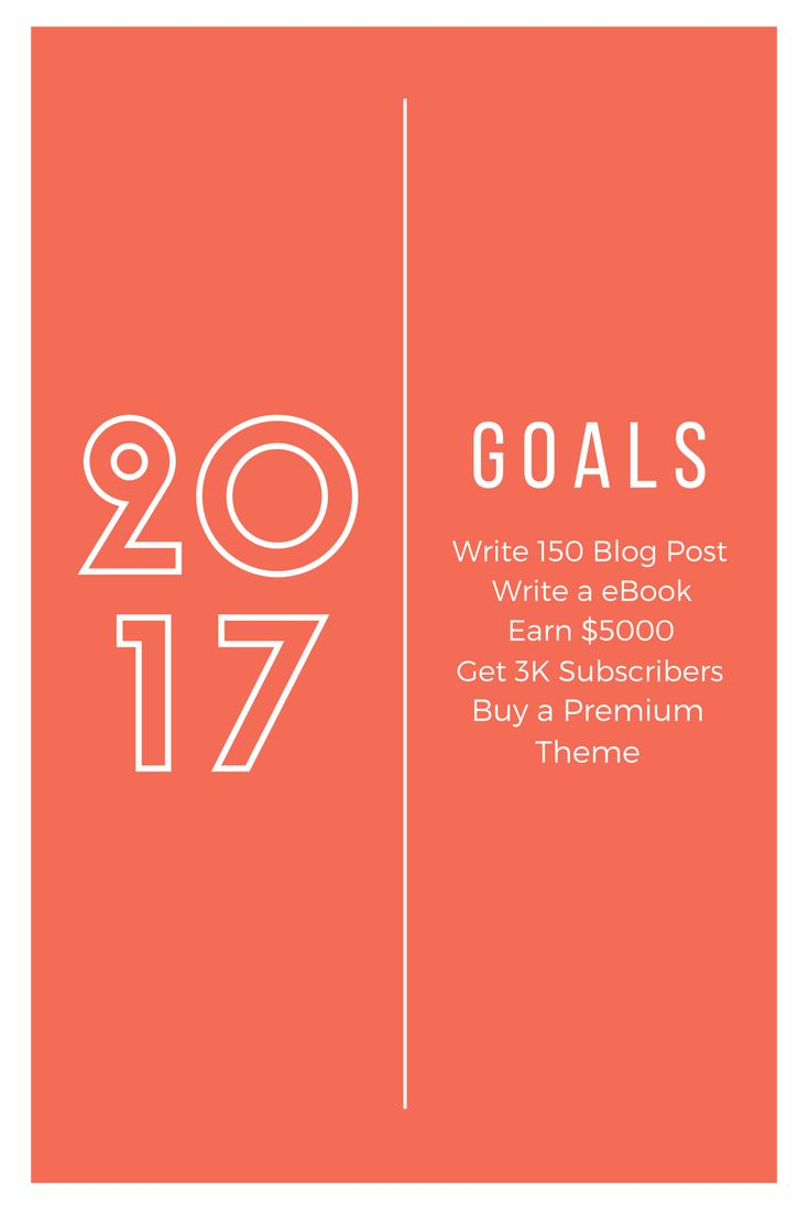 This my goal for 2017. I just started blogging this year.  What is your goal?  http://www.bloggingstarts.com/how-to-start-a-blog/