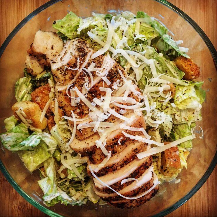 [Homemade] Grilled Chicken caesar salad