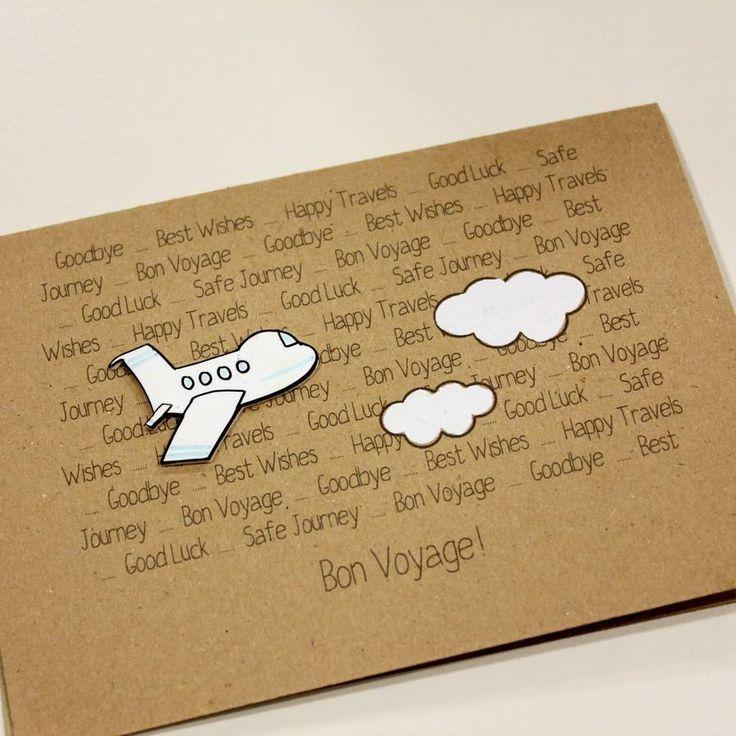 Personalised Aeroplane u0027Bon Voyageu0027 Goodbye Card Bon voyage - goodbye note