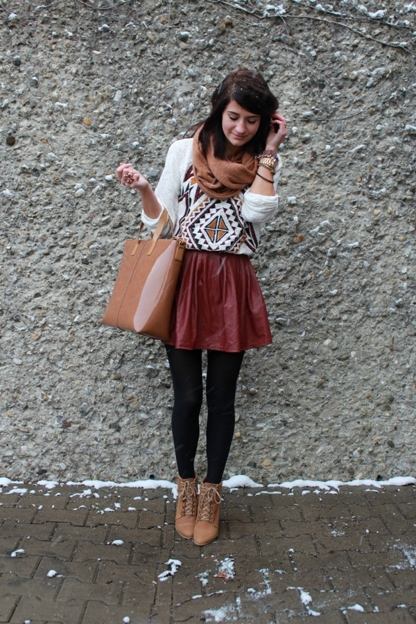 Like skirt+sweater+tights. Skirt could be longer though. Not trying to freeze my behind off in the winter!