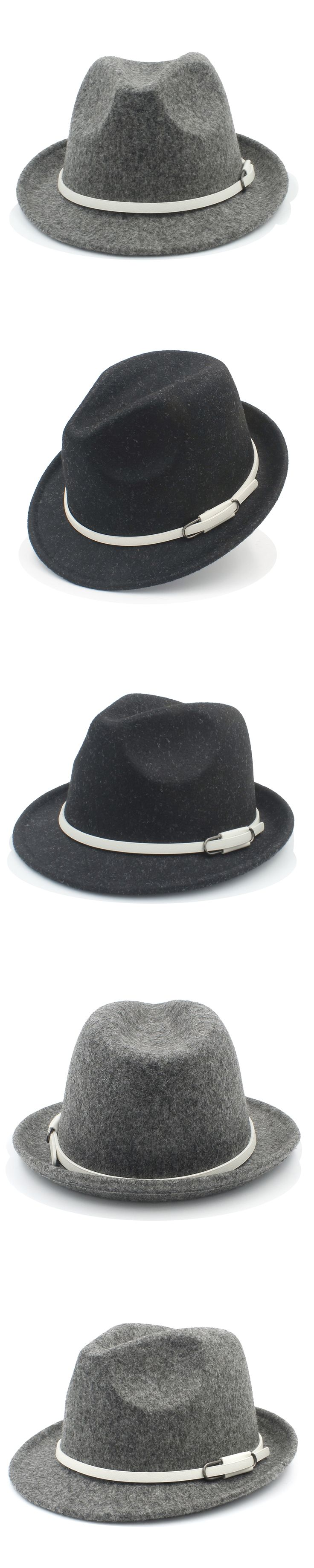 Fashion Women Men Wool Fedora Hat Winter Autumn Elegant Lady Trilby Homburg Church Derby Jazz Caps Size 56-58CM