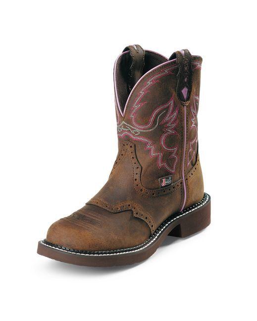 "Women's Aged Bark 8"" Gypsy Round Steel Toe Boot"