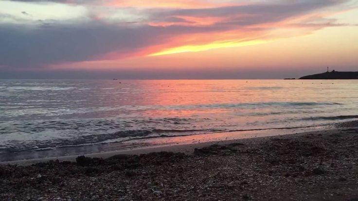 Decline on the bank of the Sea of Azov Супер место для отдыха в Крыму. Закат на берегу Азовского моря