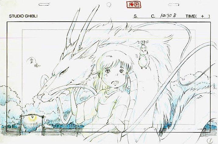 Film: Spirited Away (千と千尋の神隠し) ===== Layout Design - Scene: Chihiro & Haku ===== Hayao Miyazaki