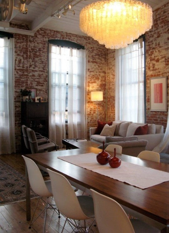 i love exposed brick! it just adds such a homely and raw feel to any home