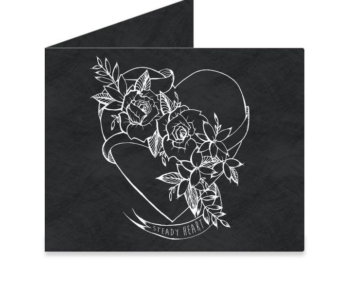 Dynomighty Artist Collective: Tattooed Heart by Kingdom at Heart #tattooed #heart #roses #blackandwhite