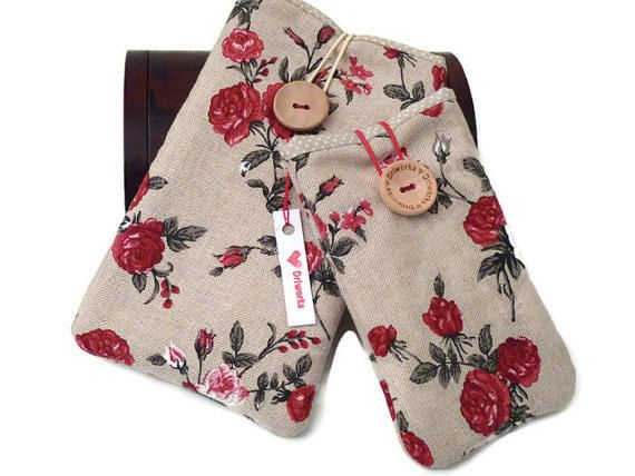 HtC One A9 flower case HTC M9 pouch HTC One M8 sleeve by Driworks