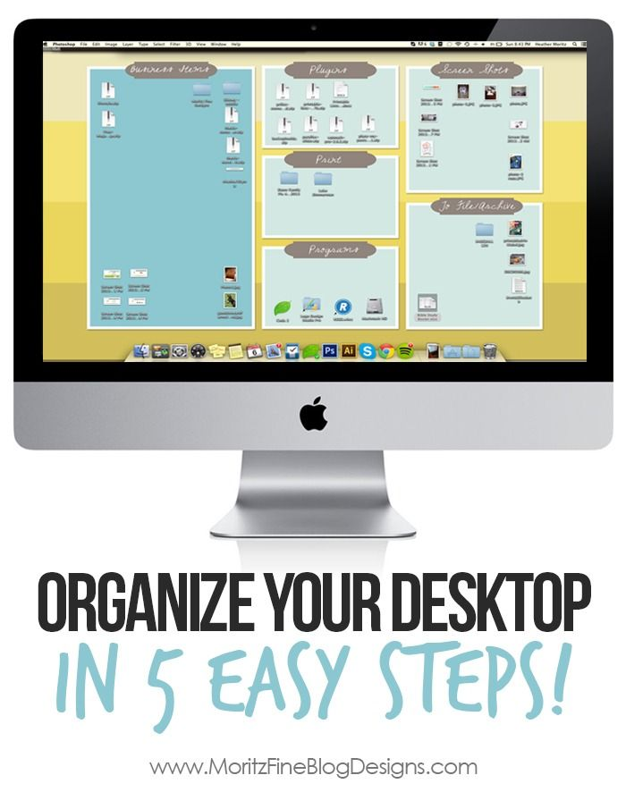 In no time at all I followed these 5 easy steps and turned my computer desktop into an organizer's DREAM! Yes, I did this with mine and it's great!