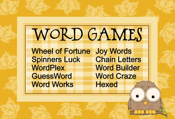 10 Awesome Word Games  http://www.jogtheweb.com/run/F5Wb9HBgdv0S/Word-Games#1