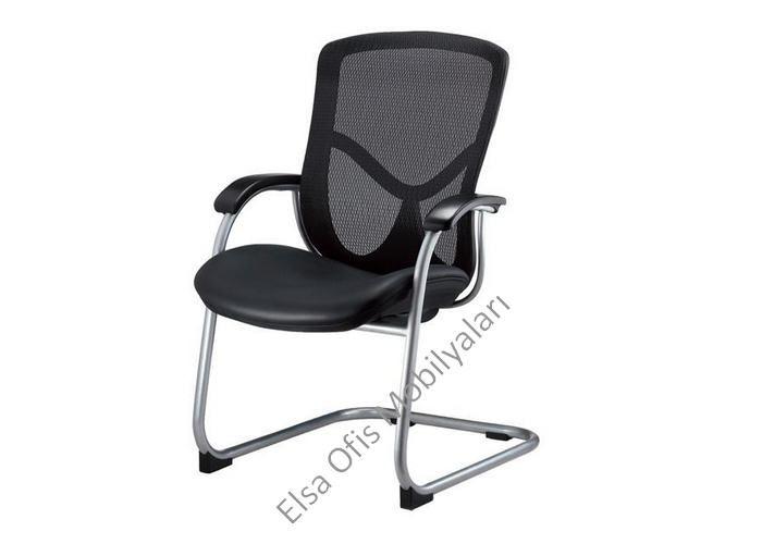 Kaliteli fileli ofis koltukları serisinde bulunan fileli misafir koltuğu. Kaliteli krom kaplama terletmez kumaş sistemi fileli ofis kotluğu.