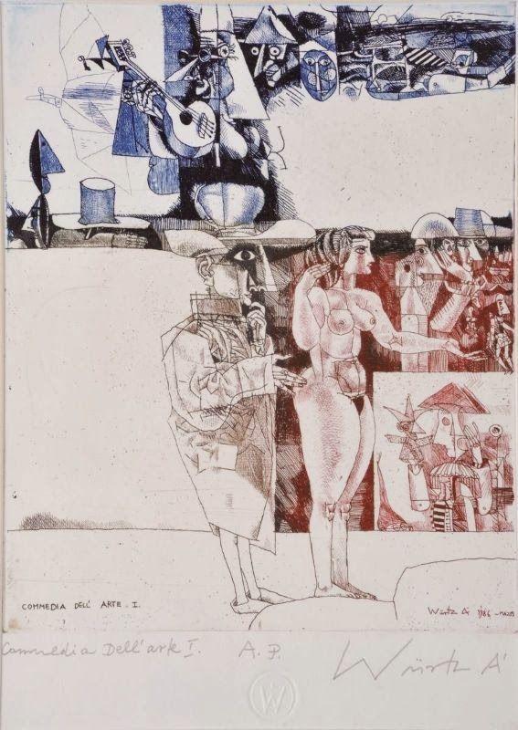 Ádám Würtz – Commedia dell arte I., 1986