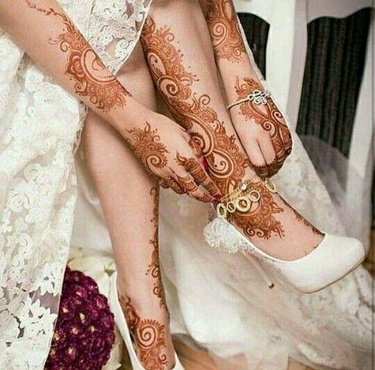 Beautiful Bridal henna designs set