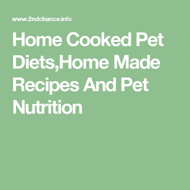 Home Cooked Pet Diets,Home Made Recipes And Pet Nutrition