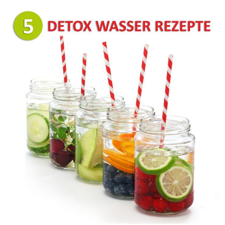 Regelmäßig Wasser zu trinken ist gesund und hilft dem Körper Giftstoffe aus den Körper zu spülen. Um diesen Effekt zu verstärken, können Sie mit einfachen Zutaten normales Trinkwasser in Detox Wasser verwandeln. Jede Zutat liefert verschiedene positive Wirkungen für die Entgiftung. Wir stellen Ihnen 5 Rezepte für Detox Wasser vor, die Sie im Handumdrehen zubereiten können. So wird Ihre Entgiftungskur bestimmt nicht langweilig.