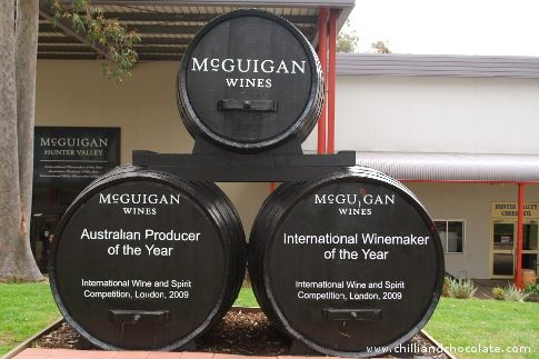 The McGuigan Winery in Hunter Valley.