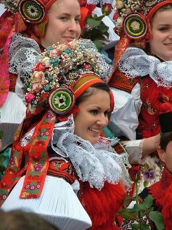 The beautiful folk costumes of the Moravsk Slovacko region- Czech Republic