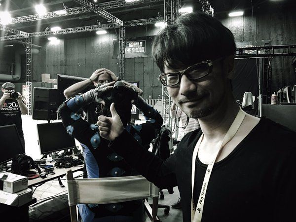 Kojima and Norman Reedus during Death Stranding trailer production