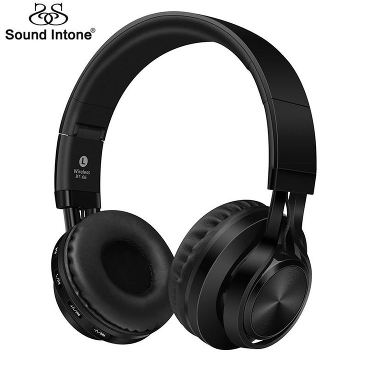 Sound Intone BT-06 Over-ear Wireless Bluetooth 4.0 Headphones Foldable Stereo with Build-in Microphone,