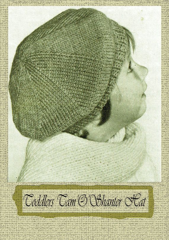 PDF Vintage Baby Girl Hat BeretHat Knitting Pattern EASY 1940s