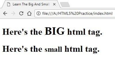 Hey guys!! In this post we are going to learn the big and small tags in html. Today we will explore some tags in html. The big and small tags in html you kn http://www.flowerbrackets.com/learn-the-big-and-small-tags-in-html/