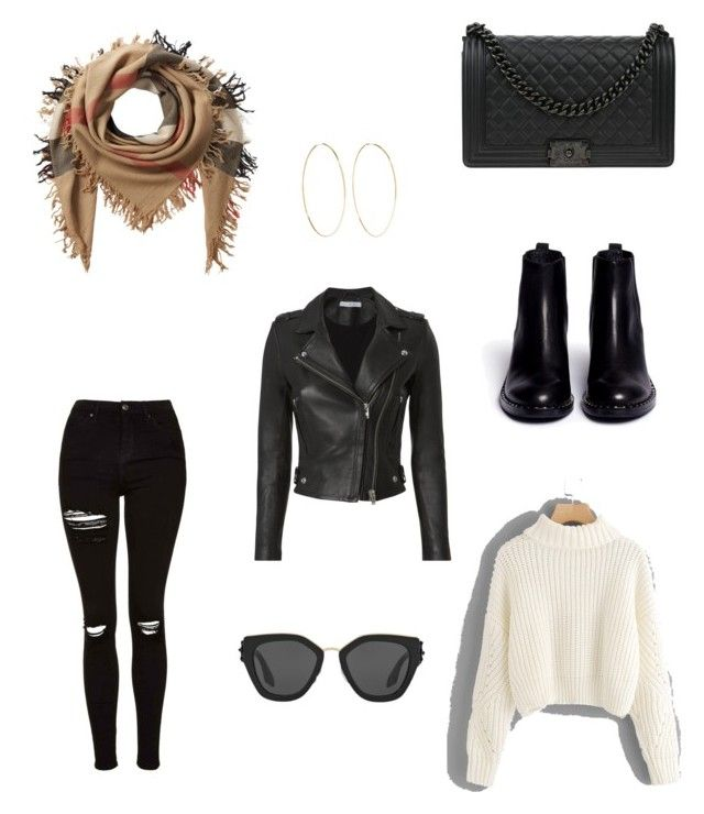 """""""Untitled #12"""" by dededeea1998 on Polyvore featuring Topshop, Ash, Burberry, Chanel, IRO, Prada and Magda Butrym"""